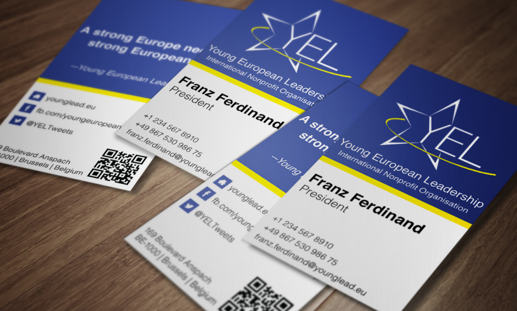 Business Card - Young European Leadership (YEL) | Roots in Design